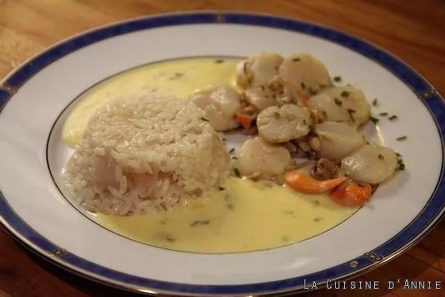 recette coquilles saint jacques poelees au riz