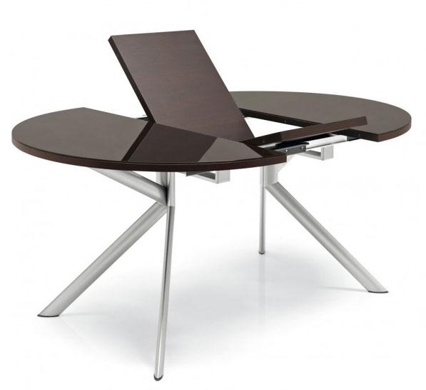 table ronde en verre extensible