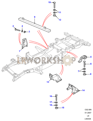 Chassis Fittings  110 & 130  Land Rover Workshop
