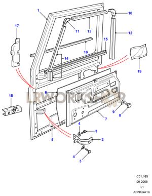 Front Door Assembly  Land Rover Workshop