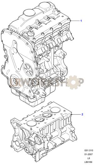 Complete Engine  24 Tdci  Land Rover Workshop