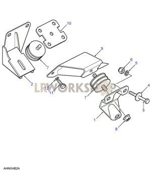 GearboxTransfer Box Mount  Land Rover Workshop