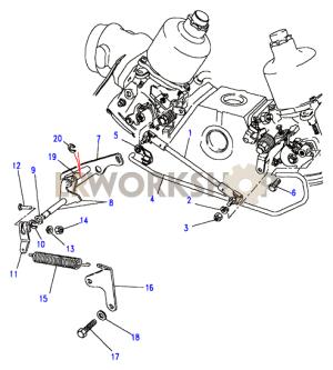 Throttle LinkageSU  V8 35L Carburetter  Land Rover