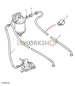 Fuel Filter Pipes  25NA, 25Td  Land Rover Workshop
