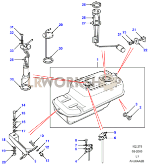 Fuel Tank Pump And Mountings  90  Land Rover Workshop