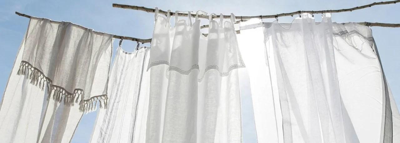 comment blanchir des rideaux jaunis