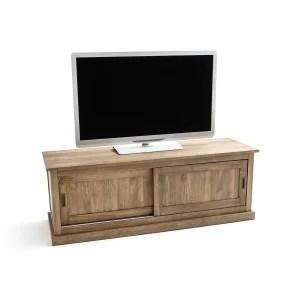 meuble tv hiba noir la redoute