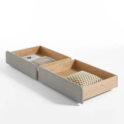 tiroirs de rangement pour le lit elori lot de 2 la redoute interieurs