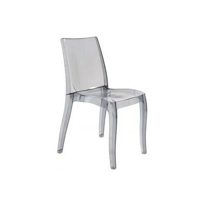 chaise transparente grise la redoute