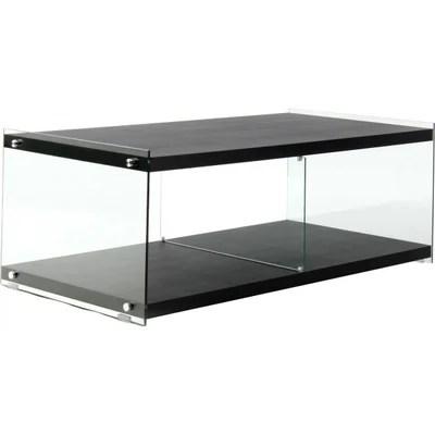 meuble tv verre noir la redoute