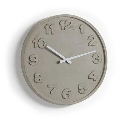 horloge murale wenig gris kave home