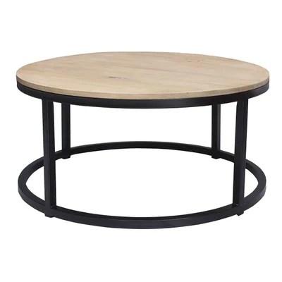 table basse ronde bois la redoute