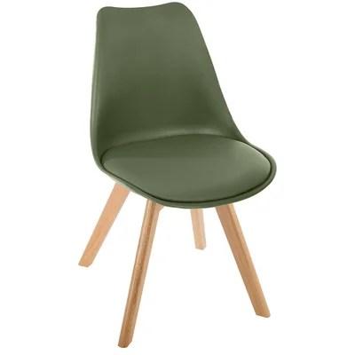 chaise marron la redoute