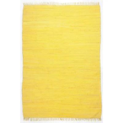 tapis jaune et noir la redoute