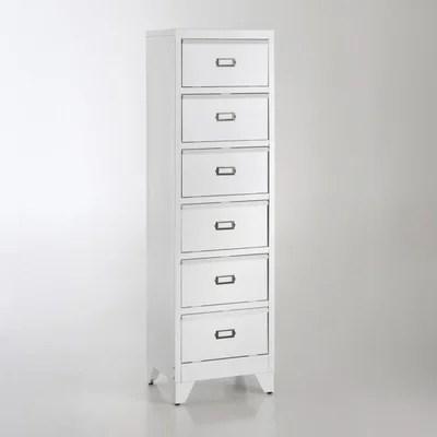 meuble industriel blanc la redoute