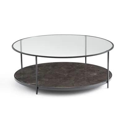 table basse ronde avec rangement la