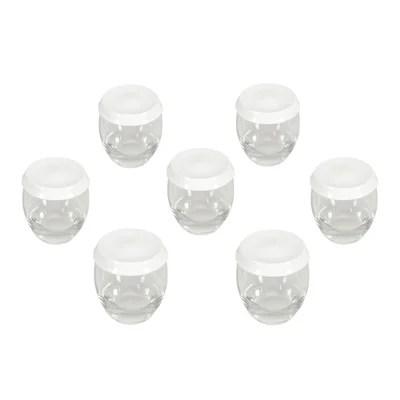 6 pots yaourt verre avec couvercle