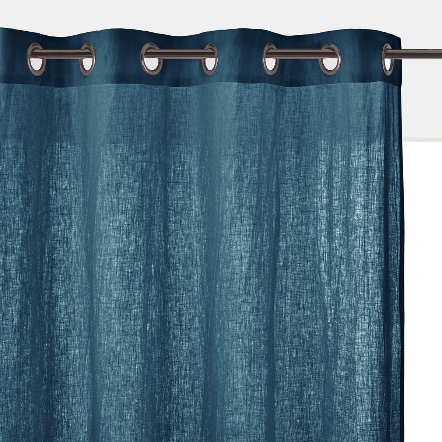 rideau lin bleu la redoute