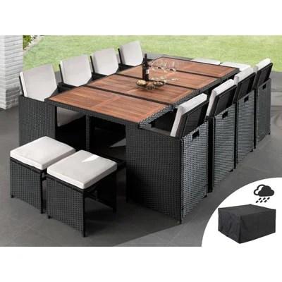 ensemble table chaise de jardin en