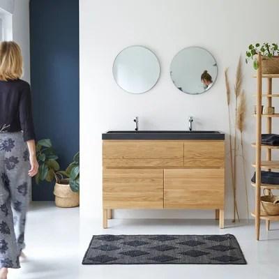 meuble salle de bain bois naturel la