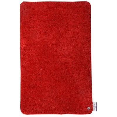 tapis de bain rouge et gris la redoute