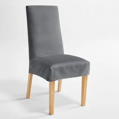 housse de chaise en suedine kala housse de chaise en suedine kala la redoute interieurs