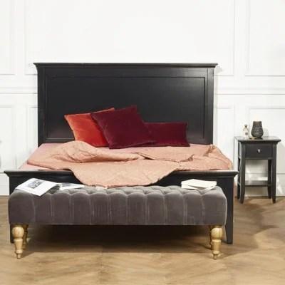 banc de lit gris la redoute
