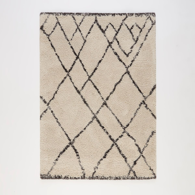 tapis salon beige et noir la redoute