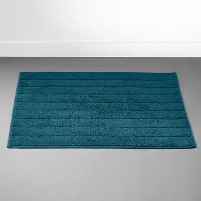 tapis de bain bleu marine la redoute