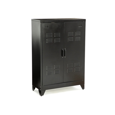 meuble metal noir la redoute