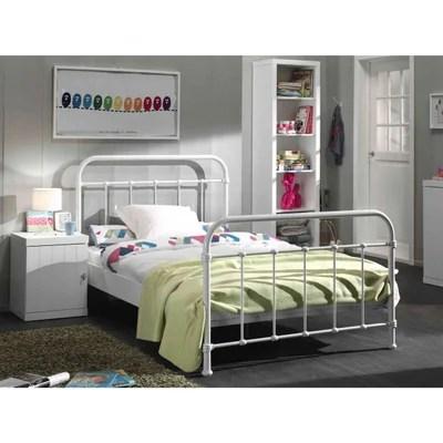lit metal blanc 1 personne la redoute