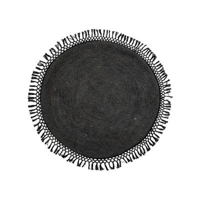 tapis rond noir la redoute