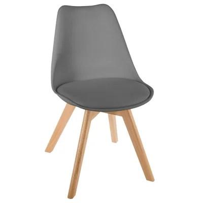 chaises salle a manger gris blanc la