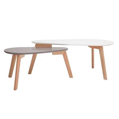 table basse gris clair la redoute