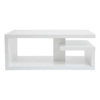 table de salon blanc laque design la