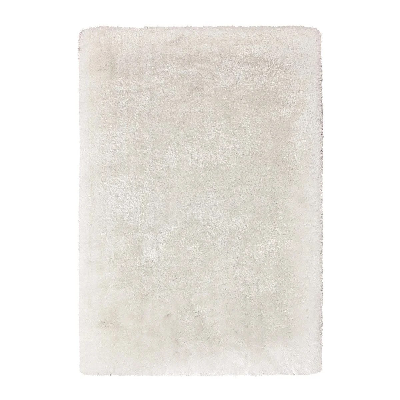 tapis shaggy blanc la redoute