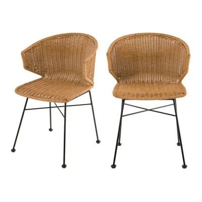 chaise resine tressee la redoute