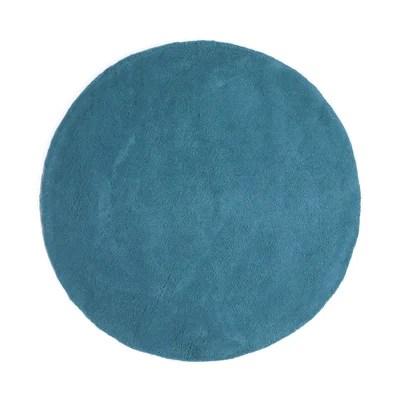 tapis rond bleu la redoute
