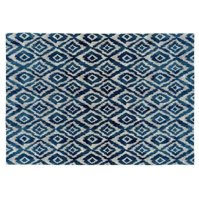 tapis bleu la redoute