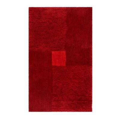 tapis de bain rouge la redoute