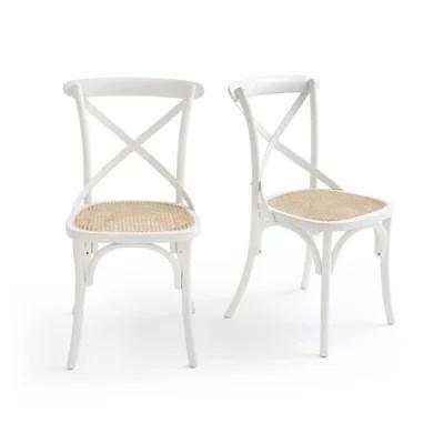 lot de chaises blanches la redoute