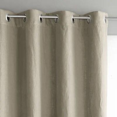 double rideaux beige la redoute