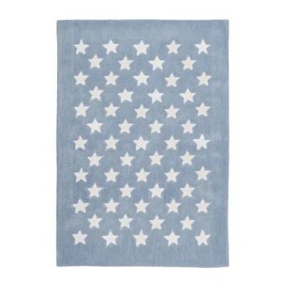 tapis bleu pastel la redoute