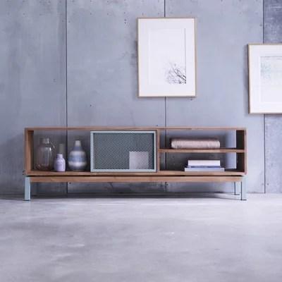 meuble tv en bois de teck et metal 170 color bebop tikamoon