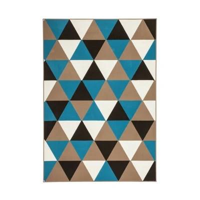 tapis triangle bleu la redoute