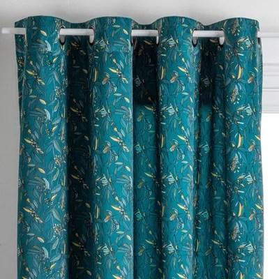 rideaux velours bleu la redoute