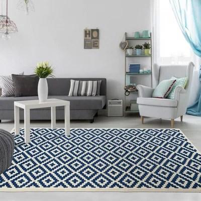 tapis salon bleu la redoute