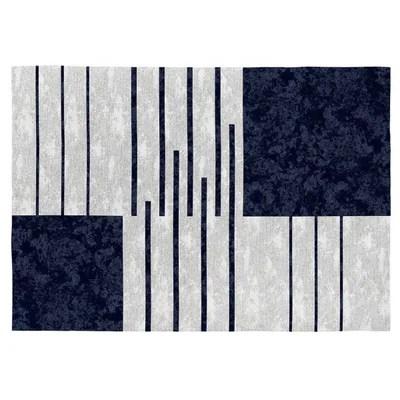 tapis design bleu la redoute