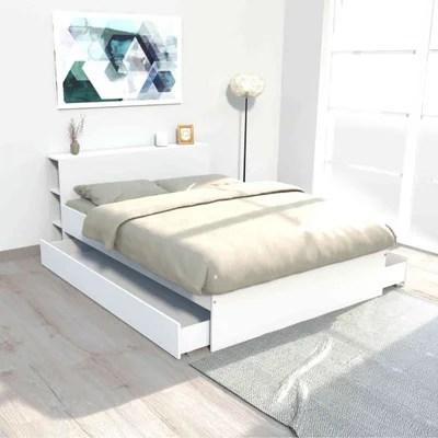 lit blanc 140x190 la redoute