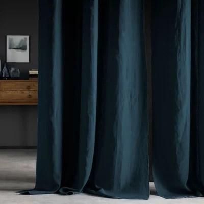 rideau bleu nuit la redoute